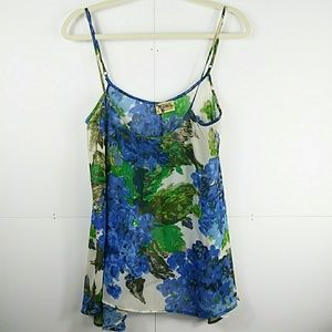 Show Me Your Mumu Watercolor Floral Shell Top S